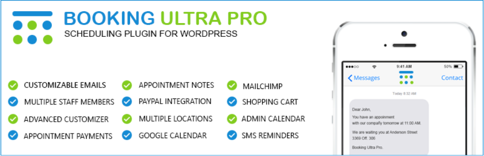 Booking Ultra Pro, WordPress Booking Plugins