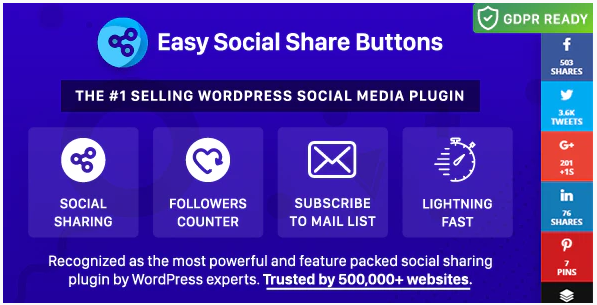 Easy Social Share Buttons, Best WordPress Social Sharing Plugins